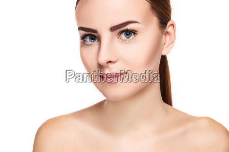 the beautiful face of young woman