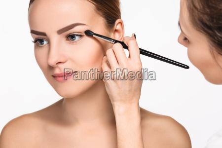 beautiful female eyes with make up