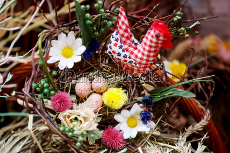 easter egg floral arrangement