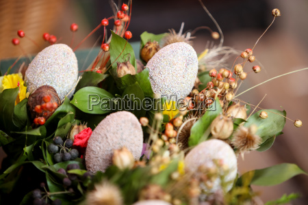 easter eggs floral arrangement