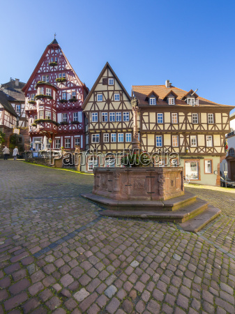 germany bavaria miltenberg half timbered houses