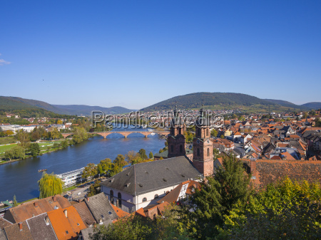 germany bavaria miltenberg river main and