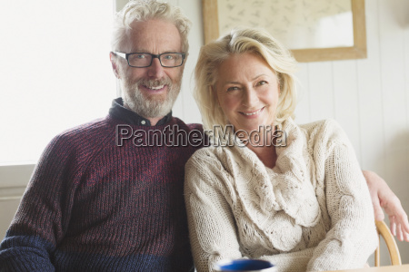 portrait smiling senior couple