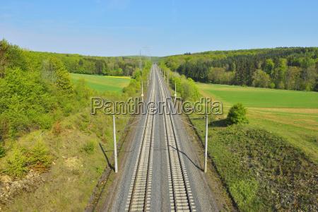 ice railroad tracks zellingen lower franconia