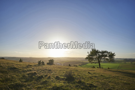 landscape of a sunset with a
