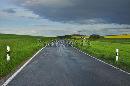 rural road in spring reichartshausen amorbach