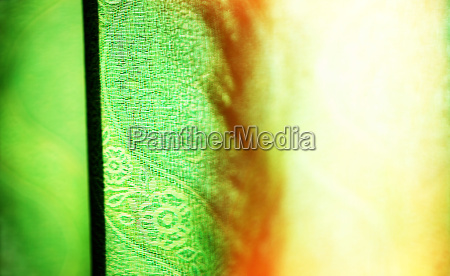 horizontal vivid green curtain with light