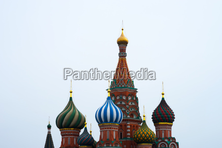 saint basil39s cathedral on moscow red