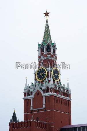 vertical moscow kremlin clock tower background
