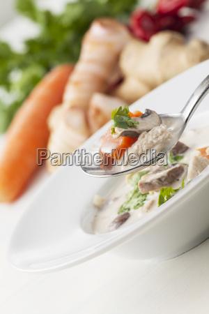 thailaendische tom kha gai suppe
