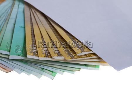 bestechung korruption euro geldschein banknote briefumschlag