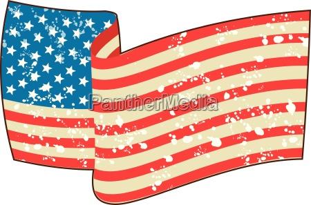 usa flag stars and stripes grunge