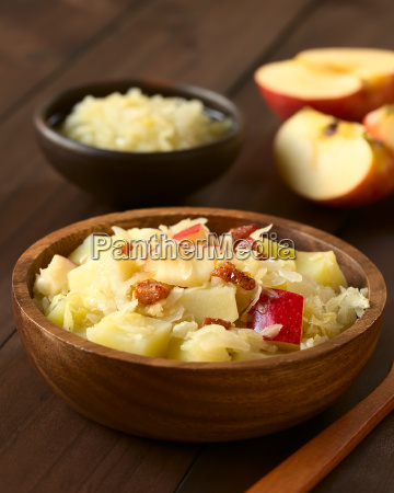 potato sauerkraut and apple salad