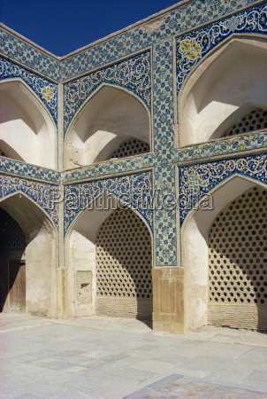 friday mosque isfahan iran middle east