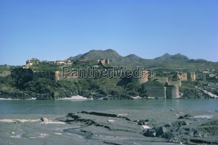 attock fort and river indus pakistan