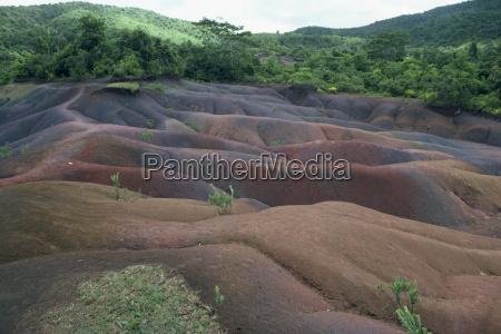 coloured earth mauritius africa