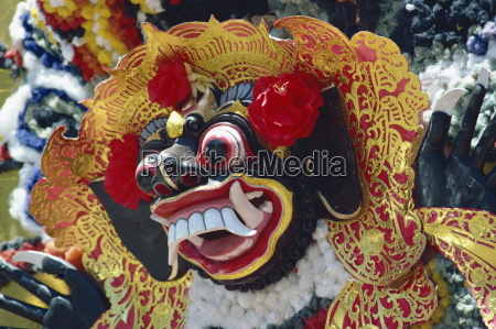 mask funeral rites bali indonesia southeast