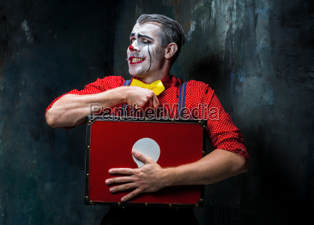 terrible crazy clown and halloween theme