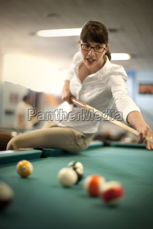 young woman playing a game of