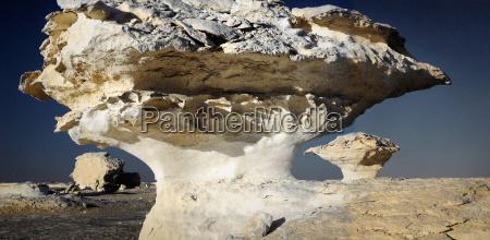 unusual white rock formations white desert