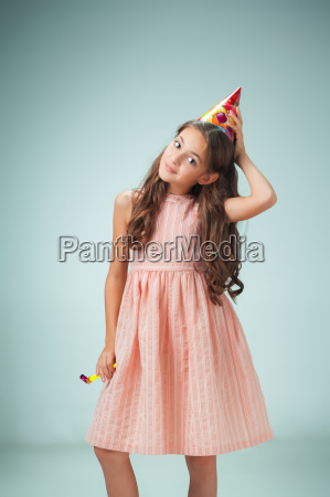 the cute cheerful little girl with