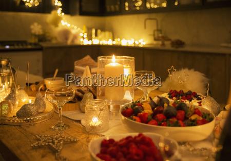 candlelight christmas table