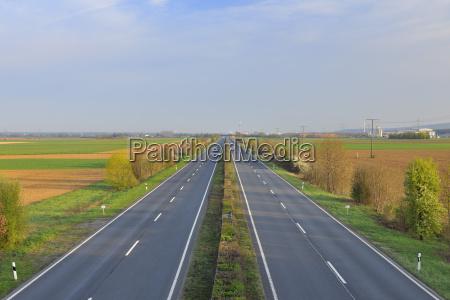empty highway aschaffenburg franconia bavaria germany