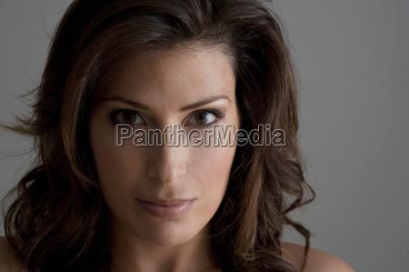 headshot of female brunette