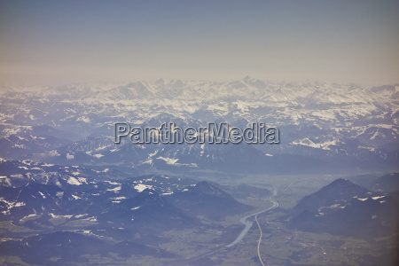 birdseye view of german alps south