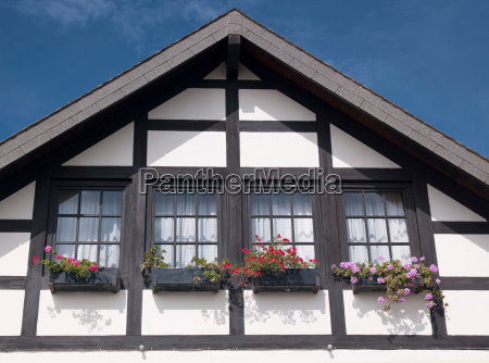 german colonial architecture on a house