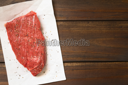 raw boneless beef meat