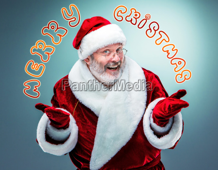 happy smiling santa claus