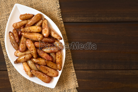 fried spicy pine nuts of the
