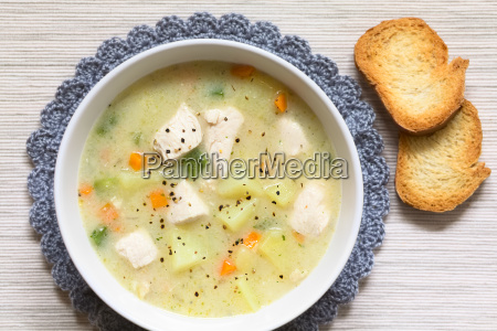 chicken, and, potato, chowder, soup, - 19825521