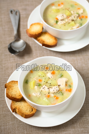 chicken, and, potato, chowder, soup, - 19825523