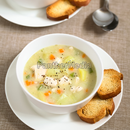 chicken, and, potato, chowder, soup, - 19825525