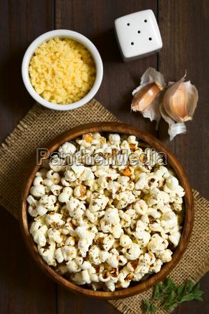 popcorn, with, cheese, , garlic, and, oregano - 19825553