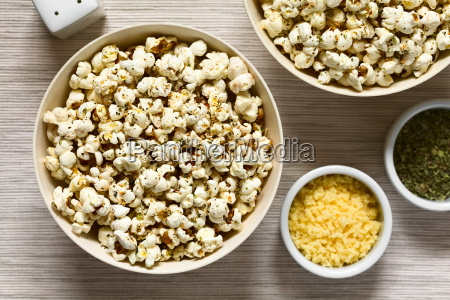 popcorn, with, cheese, , garlic, and, oregano - 19825559