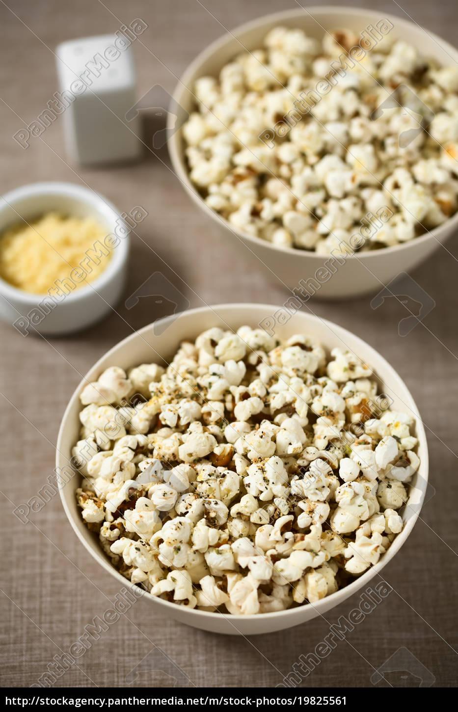popcorn, with, cheese, , garlic, and, oregano - 19825561