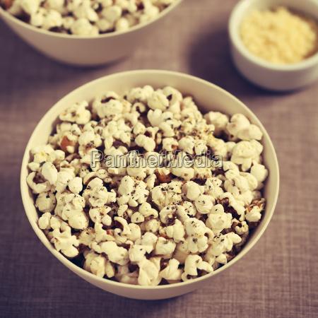 popcorn, with, cheese, , garlic, and, oregano - 19825565