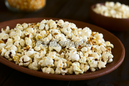 popcorn, with, cheese, , garlic, and, oregano - 19825569