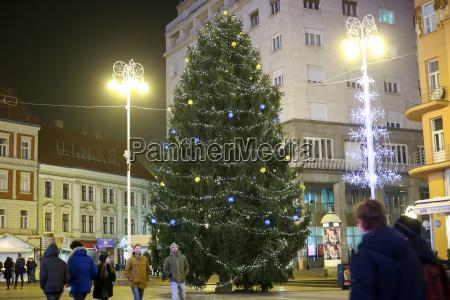 christmas, tree, in, zagreb - 19864274