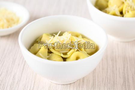 italian tortellini in brodo soup