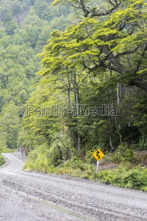 teil der carretera austral in chile