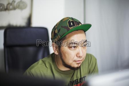 design studio a man wearing a