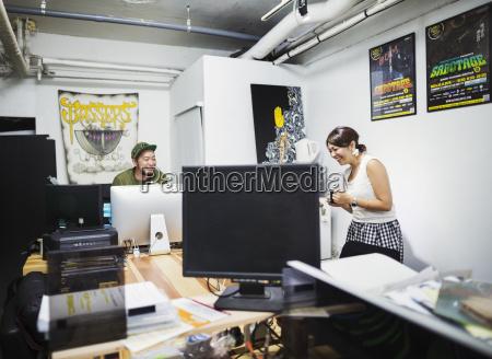design studio a man and woman