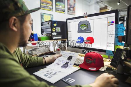 a man a designer working on