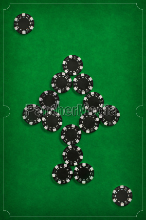the, poker, chips, on, green, background - 20225255