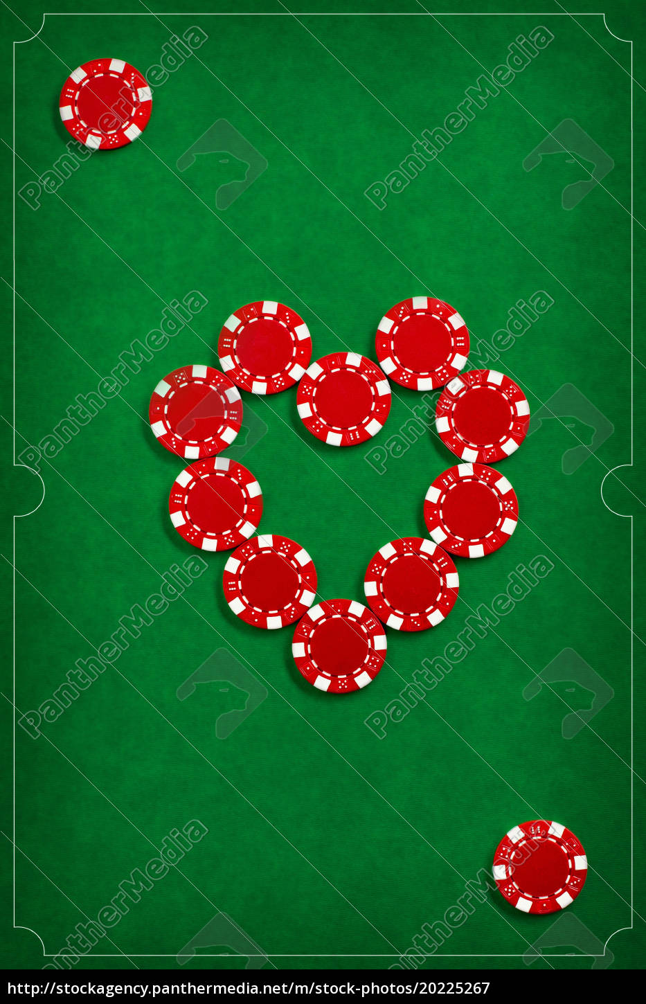 the, poker, chips, on, green, background - 20225267