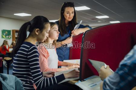 classroom computer work